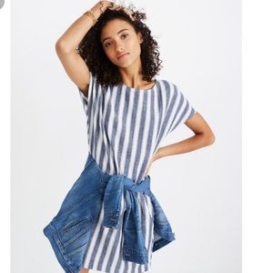 Madewell button back striped play dress size L